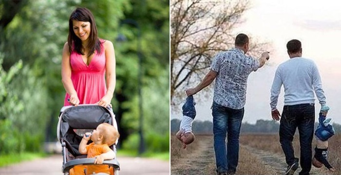 Imagens mostram a 'diferença' entre a relação de Pais e Mães com os filhos