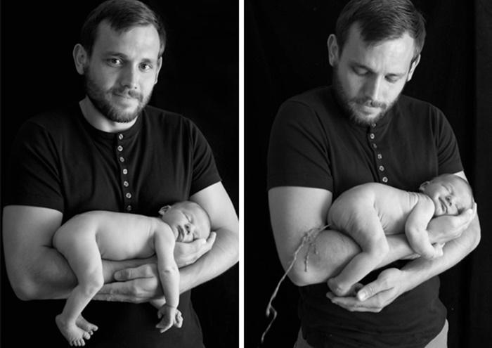 Fotos de bebês que não deram muito certo
