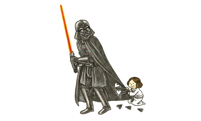 Darth Vader e seus filhos: Artista cria fotos com a rotina da família Skywalker
