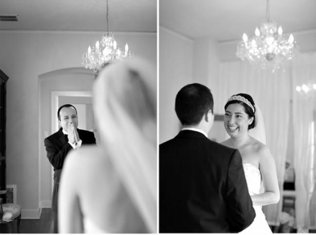 A Homens Suas Esposas Emocionada Noiva Vestidas Reação De Vendo rWexBdoC