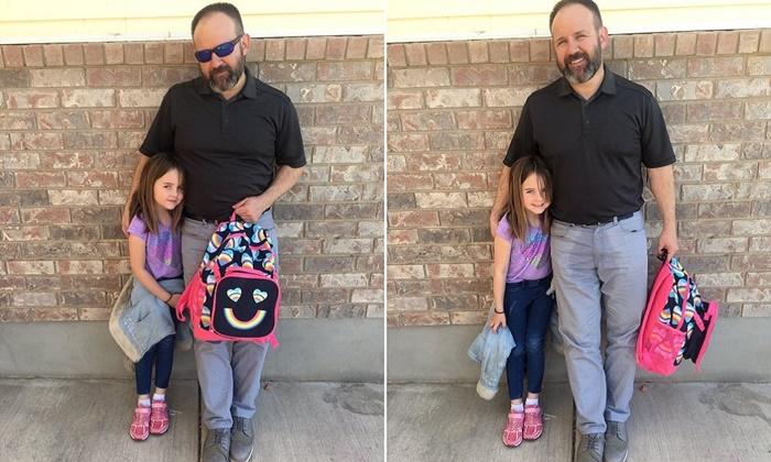 Filha fez xixi nas calças e pai tem ideia fantástica para acabar com a culpa da pequena