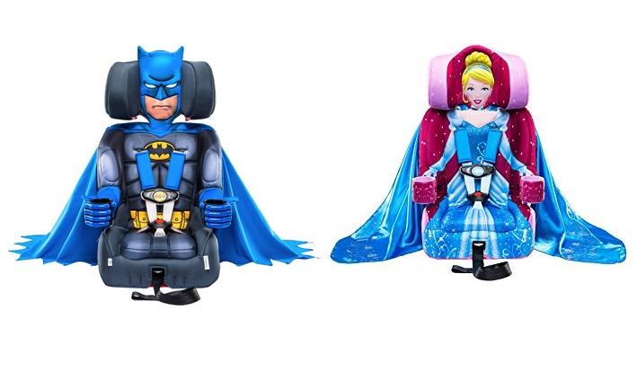 Marca cria cadeirinha com super-heróis e princesas para convencer crianças a usar