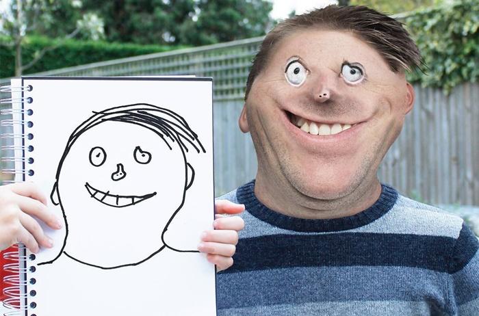 Pai transforma desenhos dos filhos em fantásticas realidades (com ajuda do Photoshop)
