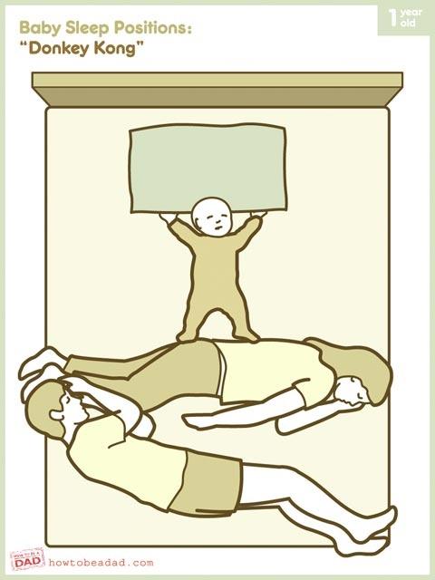 posições bebê cama